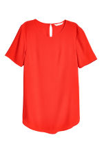 Short-sleeved top - Red - Ladies | H&M 2